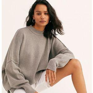 NWT Free People Easy Street Heather Grey Sweater